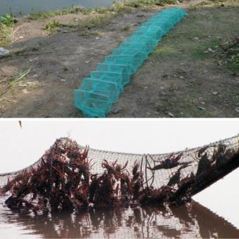 Lipat 3 m 19 lapis nilon simpul jerat dilipat jaring ikan udang kandang perangkap ikan udang