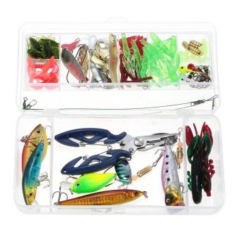 Gambar Produk Rinci Lixada 106pcs Lure Kit Set Spinner Crankbait Minnow Popper VIB Paillette Soft Hard Spoon Crank Baits Fishing Hooks Plier - intl Terkini