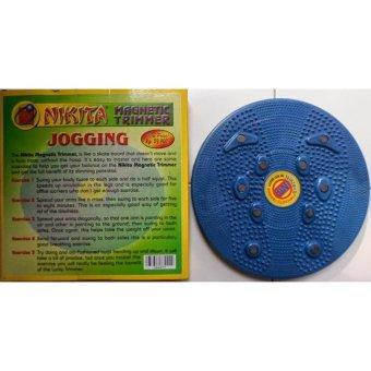 Lucky - Jogging Body Plate - Piringan Jogging Badan Magnetic Trimmer  1Pcs + Free Ikat Rambut Polkadope - 1 Pcs