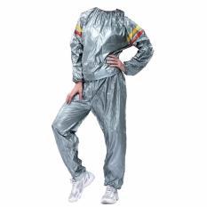 Lucky Sport Sauna Suit Size XL - Baju Sauna Pembakar Lemak - Silver /1Pcs
