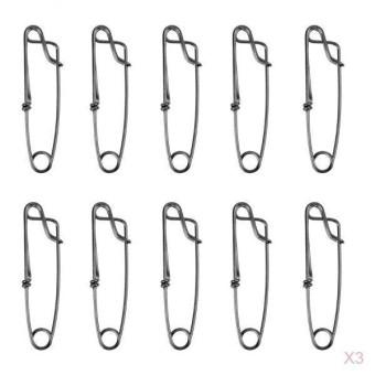 Magideal 30X Anti Karat Panjang Tali Longline Klip untuk Pancing Snapper Alat 60 Mm Mudah dan