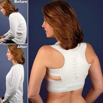 Makiyo Adjustable magnetic posture support corrector back painbrace belt(M) - intl