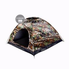 Maxxio Tenda Camping 3 Orang 200cm x 150cm Double-Layered Door - Motif Loreng
