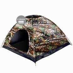 Maxxio Tenda Camping 4 Orang 200cm x 200cm Double-Layer Door - Motif Loreng