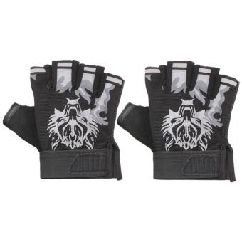 Men's Military Tactical Half-Finger Outdoor Working Gloves Mittens- intl