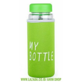 My Bottle CLEAR 545 ml + POUCH Botol Minum Infused Water - HIJAU
