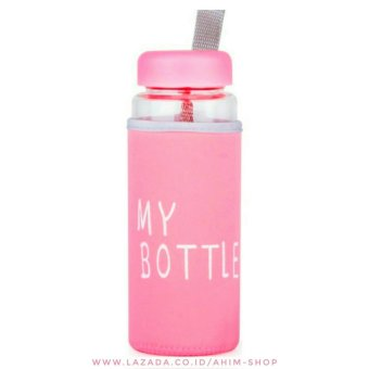 My Bottle CLEAR 545 ml + POUCH Botol Minum Infused Water - PINK