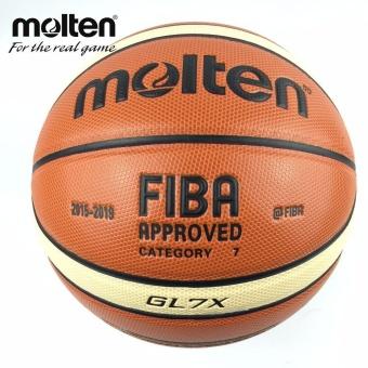 Baru Musim 2015-2019 Resmi Asli Bola Basket Molten GL7X Ball NEW Arrival Molten PU