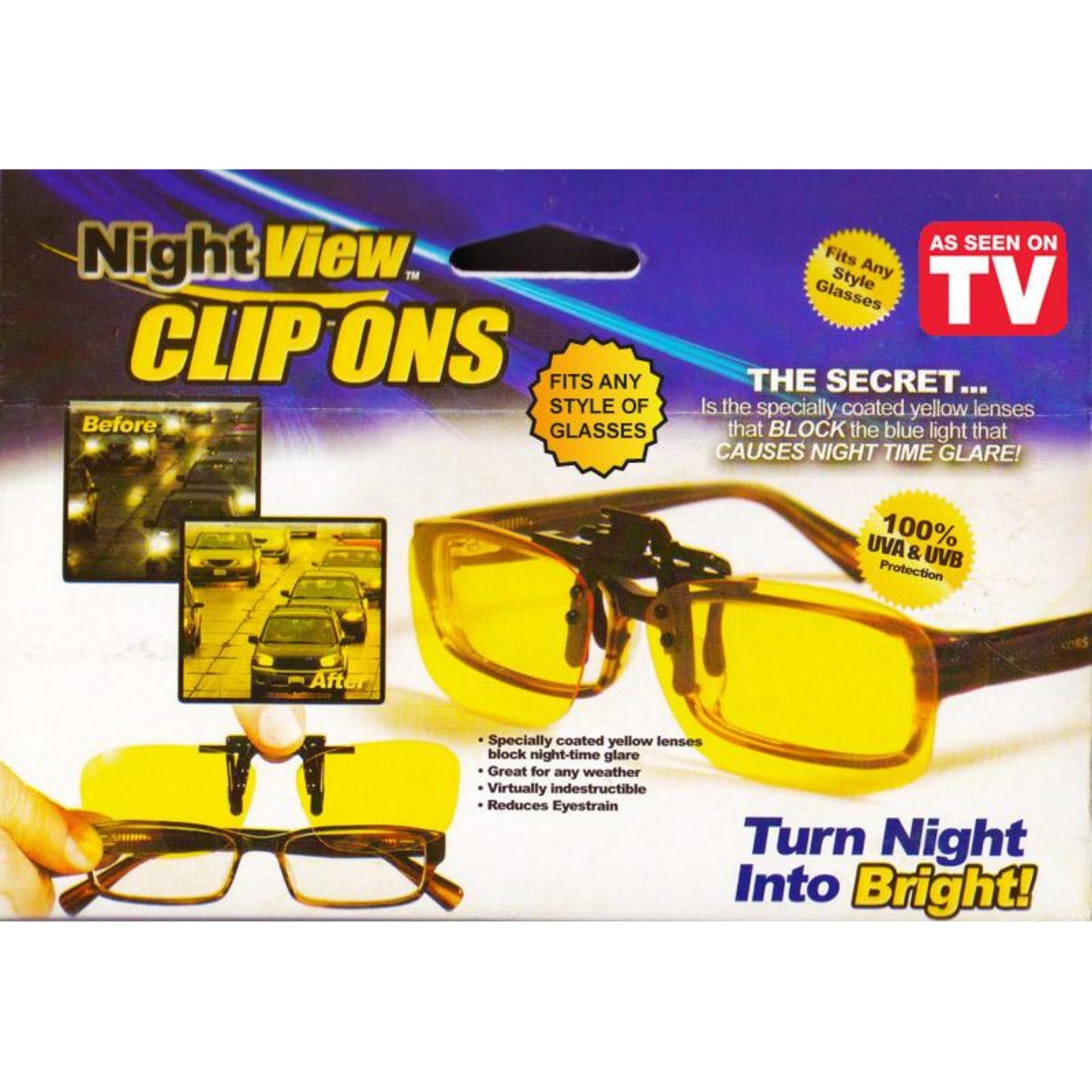 Daftar Harga Night View Clip Ons As Seen On Tv Kacamata Jepit Anti Lensa Silau Lensajepit