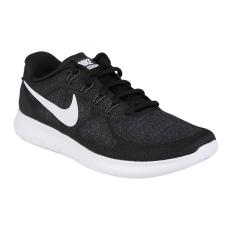 Nike Free Run 2017 Sepatu Lari - Black/White-Dark