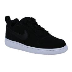 Nike Womens Court Borough Low Sneakers Olahraga Wanita - Black/Black-White
