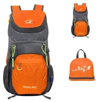 [ORANGE] 40 Liter Lipat Backpack Hiking Daypacks Outdoor Drawstring Travel Bags Laptop Computer Back