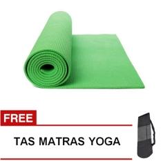 Oranyejersey Matras Yoga Mat Flexflit 6MM - Hijau + Tas