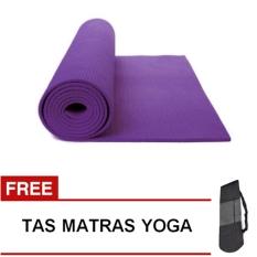 Oranyejersey Matras Yoga Mat Flexflit 6MM - Ungu Tua + Tas