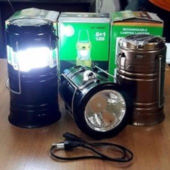 paket promo lentera Solar 6+1 LED Emergency Light with Flashlight 5800- isi 3 pcs /mawar88shop