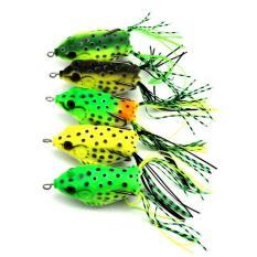 PAlight 5 buah plastik lembut umpan pancing umpan katak dengan kait atas air 6,5 cm 13 G buatan ikan mengatasi - International