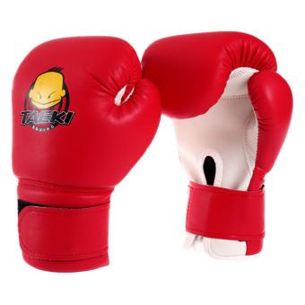 PAlight Anak Sanda Knuckles Kick Boxing Sarung Tinju (Merah)