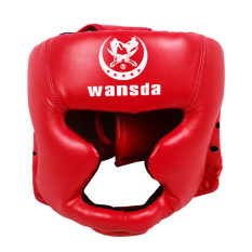 PALIGHT Kick Boxing Eadgear Helm Pelindung (merah)