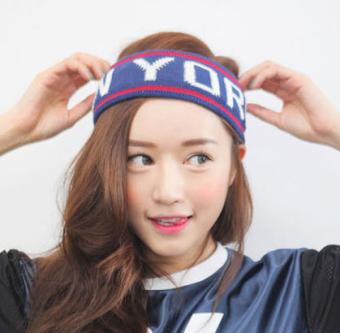 REVIEW PDG merajut wol hip-hop hip-hop surat headset pita penahan keringat yoga karet rambut TERPOPULER