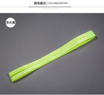 REVIEW Permen berwarna silikon ganda akar non-slip yoga ikat kepala karet rambut TERLARIS