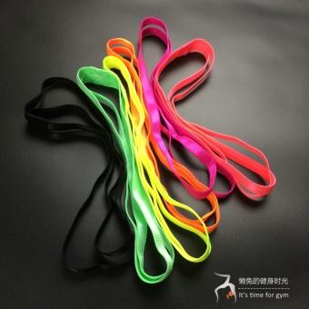 DISKON Permen berwarna silikon musim panas ganda dengan non-slip olahraga ikat kepala karet rambut TERMURAH