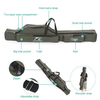 Portabel lipat kanvas joran pancing pembawa alat penyimpanan Case tas joran mengatasi - International
