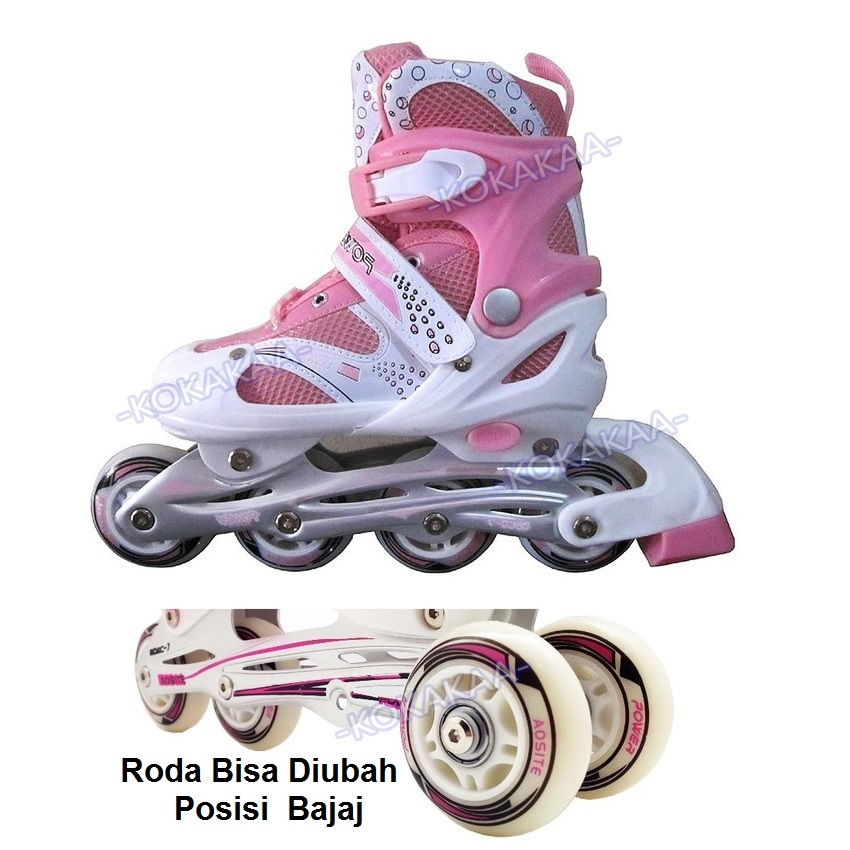 Power Sport 4000 Inline Skate Sepatu Roda 2 In 1 Adjustable Wheel ... 2cbcf93132