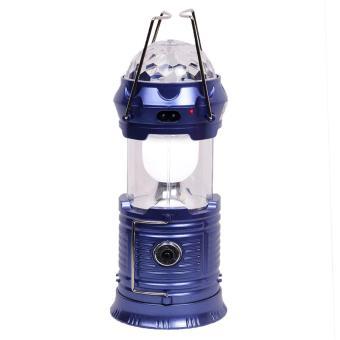 ... Quincy - Magic Ball + Lampu Senter Emergency Kemping Lentera LED +Solar Rechargeable - Blue ...