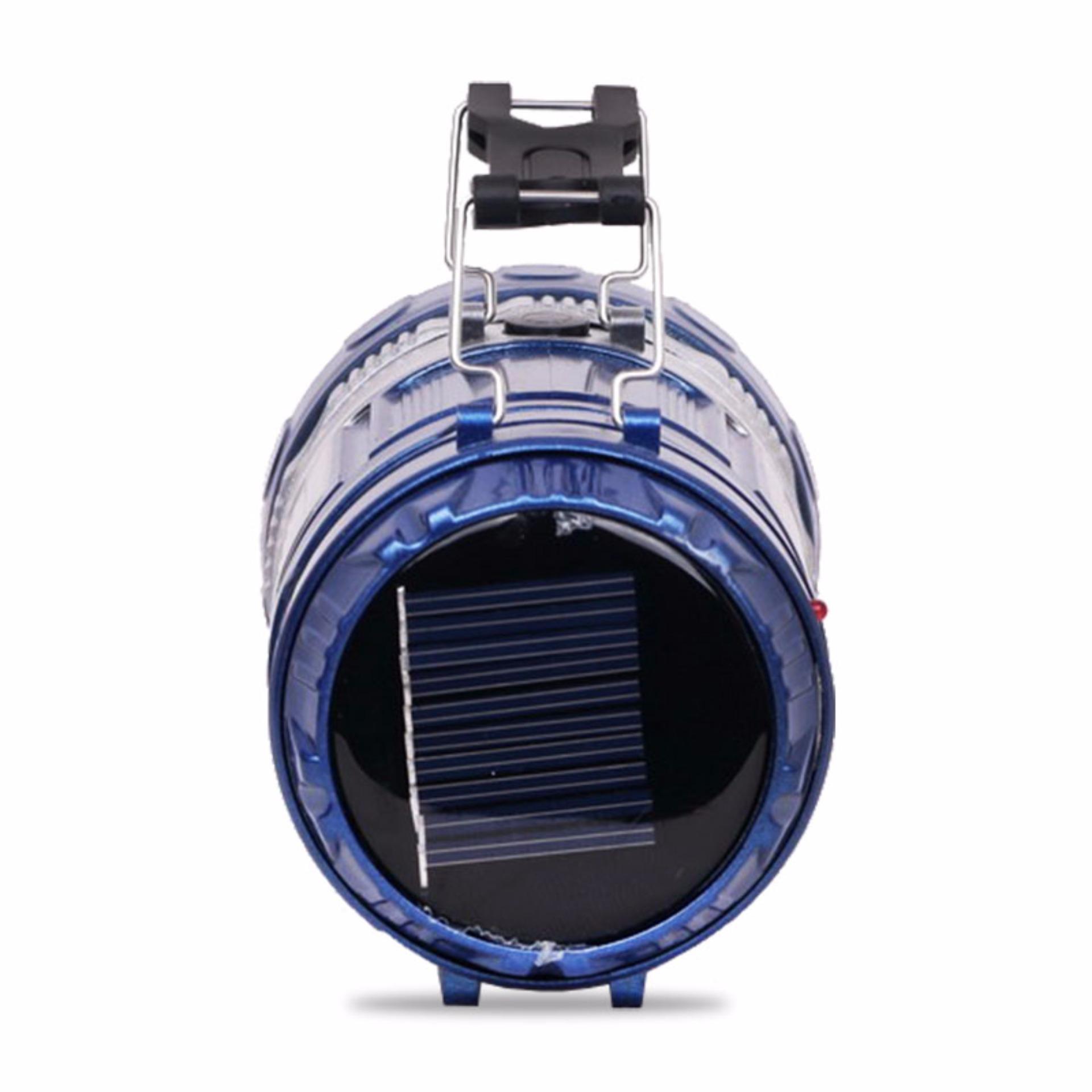 QuincyHome Lampu Emergency - Lentera Camping Powerbank Solar + Senter - Blue ...