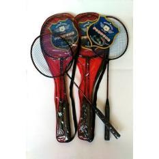 Raket Badminton Set 2 Pcs Dilengkapi Tas Raket - Set Racket Bulutangkis 2pcs Disertai Tas Racket