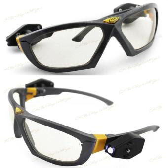... Riding Cycling Safety Glasses Clear Anti-fog Eye Protective Goggleswith Lights - intl - 5