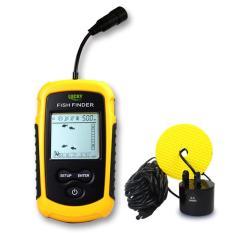 Selamat 100 m Portable LCD Alarm Sensor Sonar Pencari Ikan 51 Hitam & Jeruk