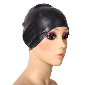 Silika Pelindung Telinga Topi Berenang Topi Pelindung Rambut Elastis Stretch Unisex