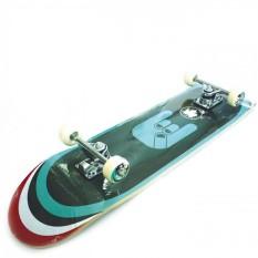 Silverfox Skateboard Maple Blue Fingered
