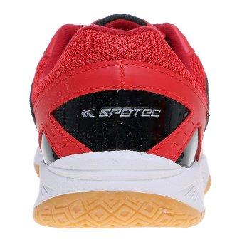 Spotec Vega Sepatu Badminton - Merah-Hitam - 3