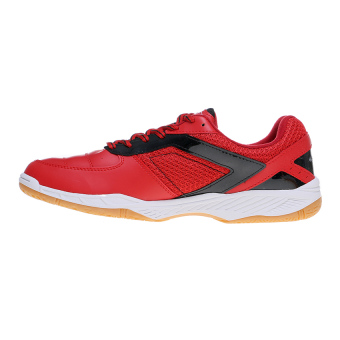 Spotec Vega Sepatu Badminton - Merah-Hitam - 4