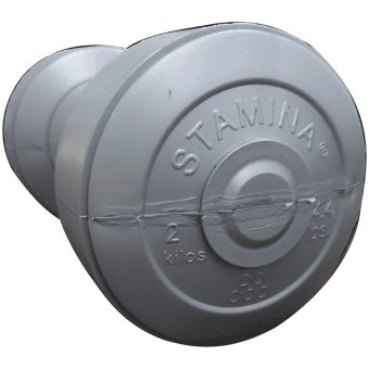 Stamina dumbbell Plastic 2 kg Silver