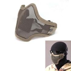 Strike Metal Mesh Pelindung Masker Setengah Wajah Taktis Airsoft Militer Masker Sa2-Intl