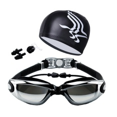 Swimming Myopia Goggles(Diopter: -2.5)+ Swim Cap + Case + Nose