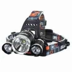 T6 High Power Headlamp Cree XM-L T6 5000 Lumens Senter Lampu Kepala Outdoor Military Adventure s4584 - Black
