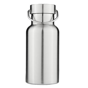 Termos Stainless Steel dinding ganda terisolasi topi bambu botol air minum 300 ml - Internasional