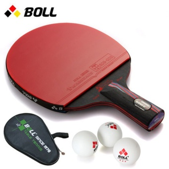 The BOLL pen carbon nano king single shot genuine reverse tabletennis racket - intl
