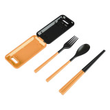 ... Travel Box Of Cutlery Set Alat Makan Portable Sendok Garpu Sumpit - 3 ...