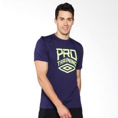 Umbro Pro Training CVC Logo Tee Baju Olahraga Pria - Purple 64413U-RQD