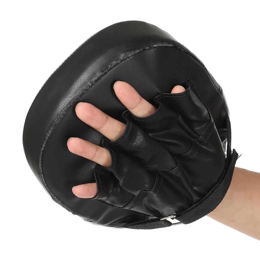 ... Yidabo Hitam Sarung Tangan Tinju Latihan Fokus Sasaran Pukulan Sarung Bantalan MMA Tendangan