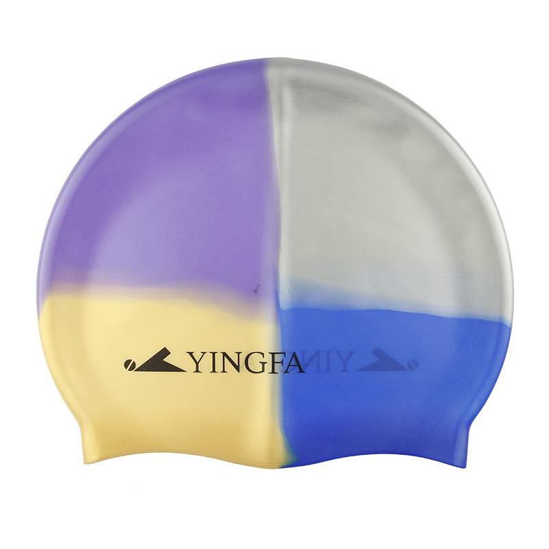 Cheap online Yingfa keren kamuflase cetak profesional topi renang silikon topi renang