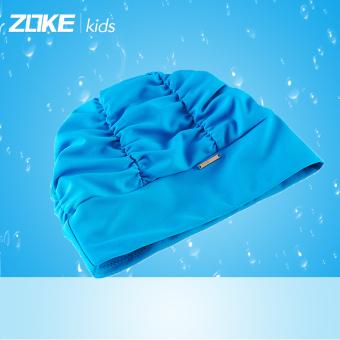 DISKON Zoke merajut warna solid Gadis dengan rambut panjang topi renang topi renang topi renang topi renang MURAH
