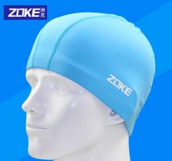 REVIEW ZOKE nyaman warna solid dengan rambut panjang topi renang besar topi renang MURAH