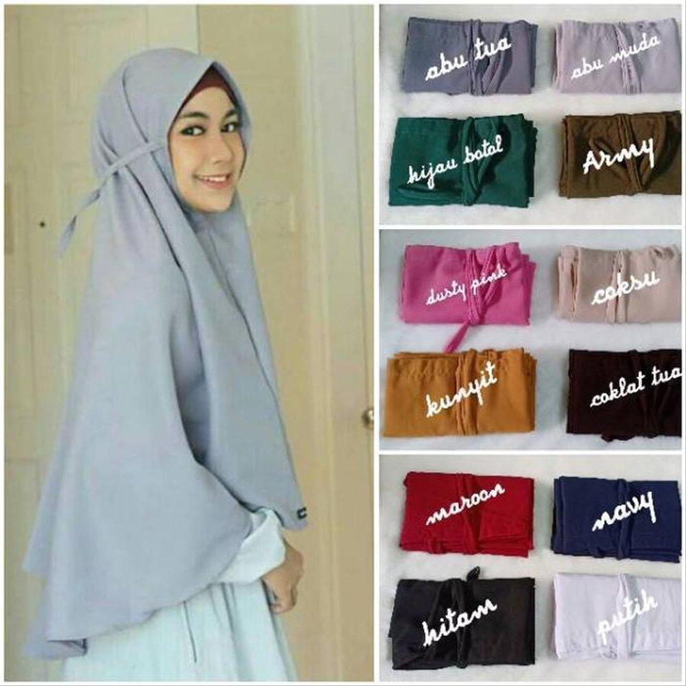 Khimar Hijab Instan Bergo Maryam Tali Non Pet Diamond Hijab Maryam Kerudung Instant Tali Khimar Maryam Tali Lazada Indonesia