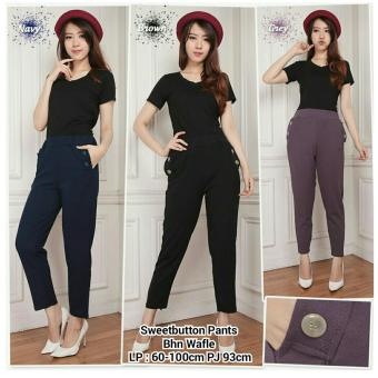 ... 168 Collection Celana Buttonside Long Pant Hitam